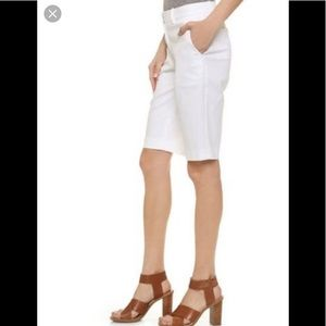 Theory palm white cotton shorts 0